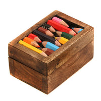Box - wood with recycled crayons 7.5x5x4cm