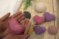 Konjac Heart Sponge - Rose