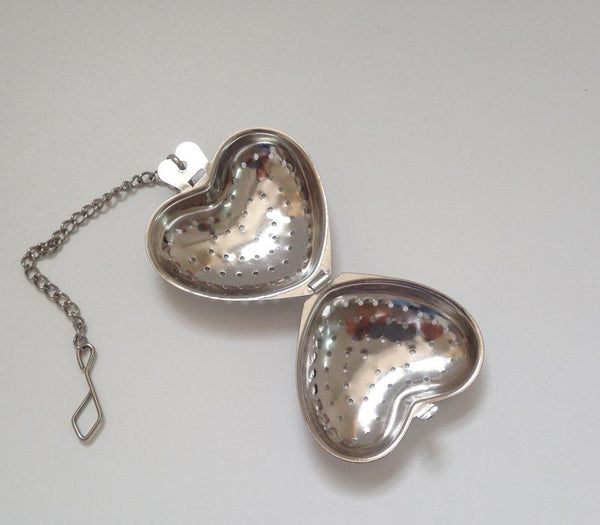 Heart Shaped Tea Infuser - chain handle