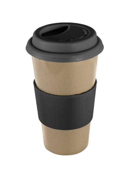 Biodegradable, Reusable Travel Mug - Black