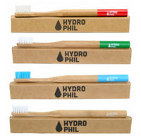 Bamboo toothbrush in red, sustainable & vegan by Hydrophil (medium)