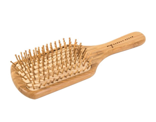 Biodegradable Bamboo Hairbrush - Rectangular