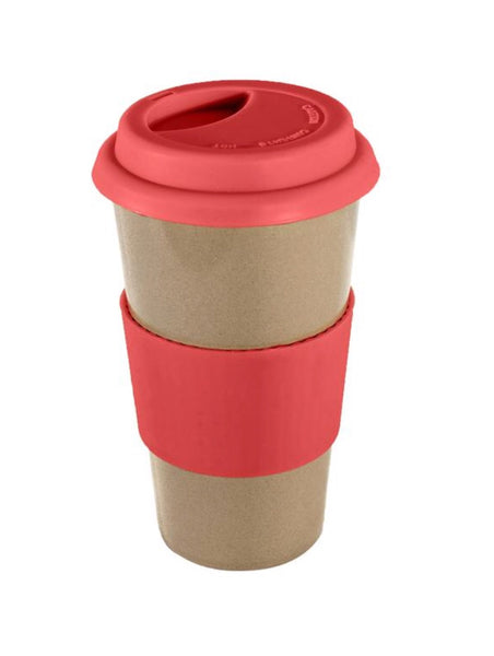 Biodegradable, Reusable Travel Mug - Red