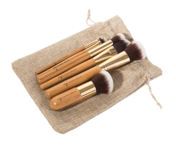 6 Piece Bamboo Make Up Brush Set