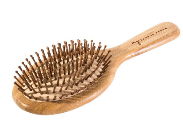 Biodegradable Bamboo Hairbrush- Oval