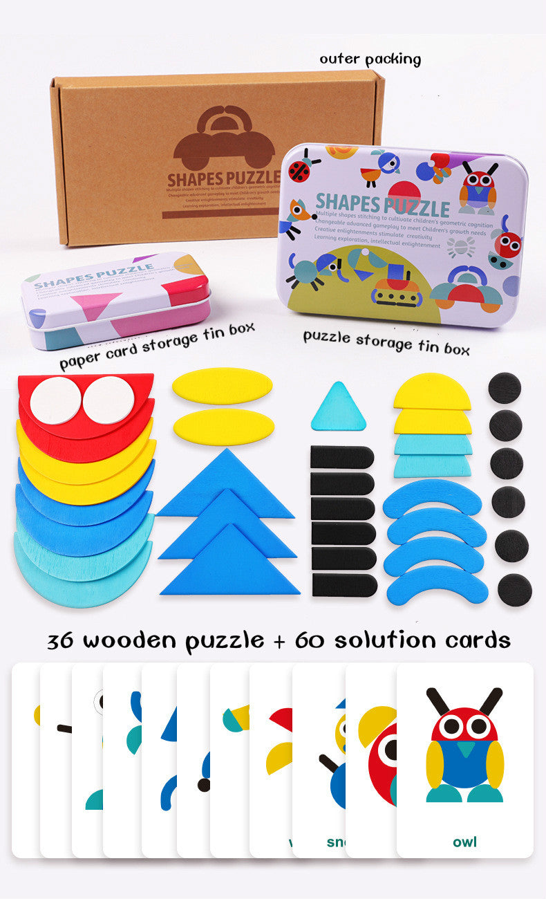 Shape Puzzle Educational Toy Kidte