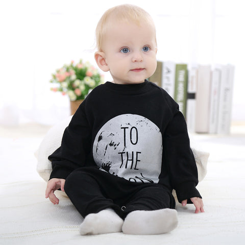 To the Moon Long Sleeve Romper Jumpsuit 0-2T