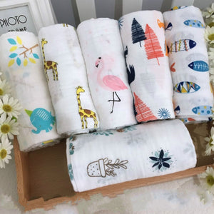 Premium Quality Muslin Baby Swaddle Blanket 3-Pack