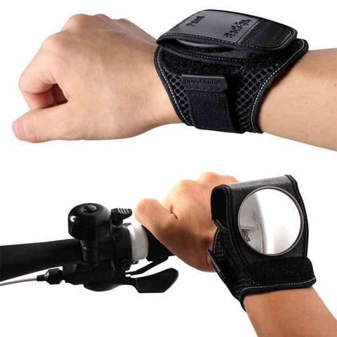 Wrist Mirror - Rear View Wrist Guards Glove with Built-in Back Mirror for Bike Cycling