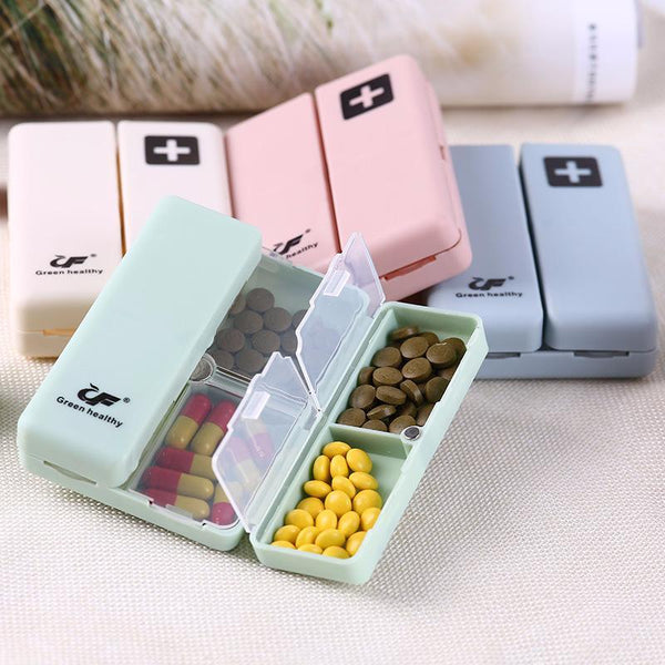 Green Healthy™ Portable Supplements Box With Magnetic Snap Closure - 29tacos