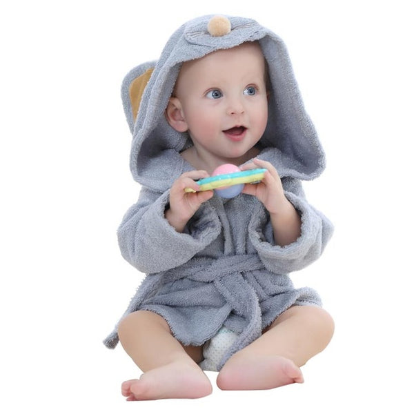 Mini Style Hooded Bathrobe - Mouse/ Bunny/ Lion (0-12 months)