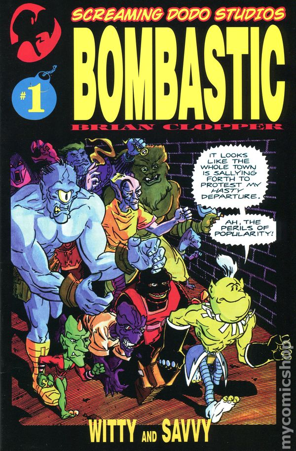 BOMBASTIC #1-5 (Screaming Dodo Studios) Complete Set SIGNED