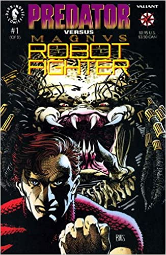 PREDATOR vs MAGNUS ROBOT FIGHTER #1-2 (1992 Dark Horse/Valiant) COMPLETE SET