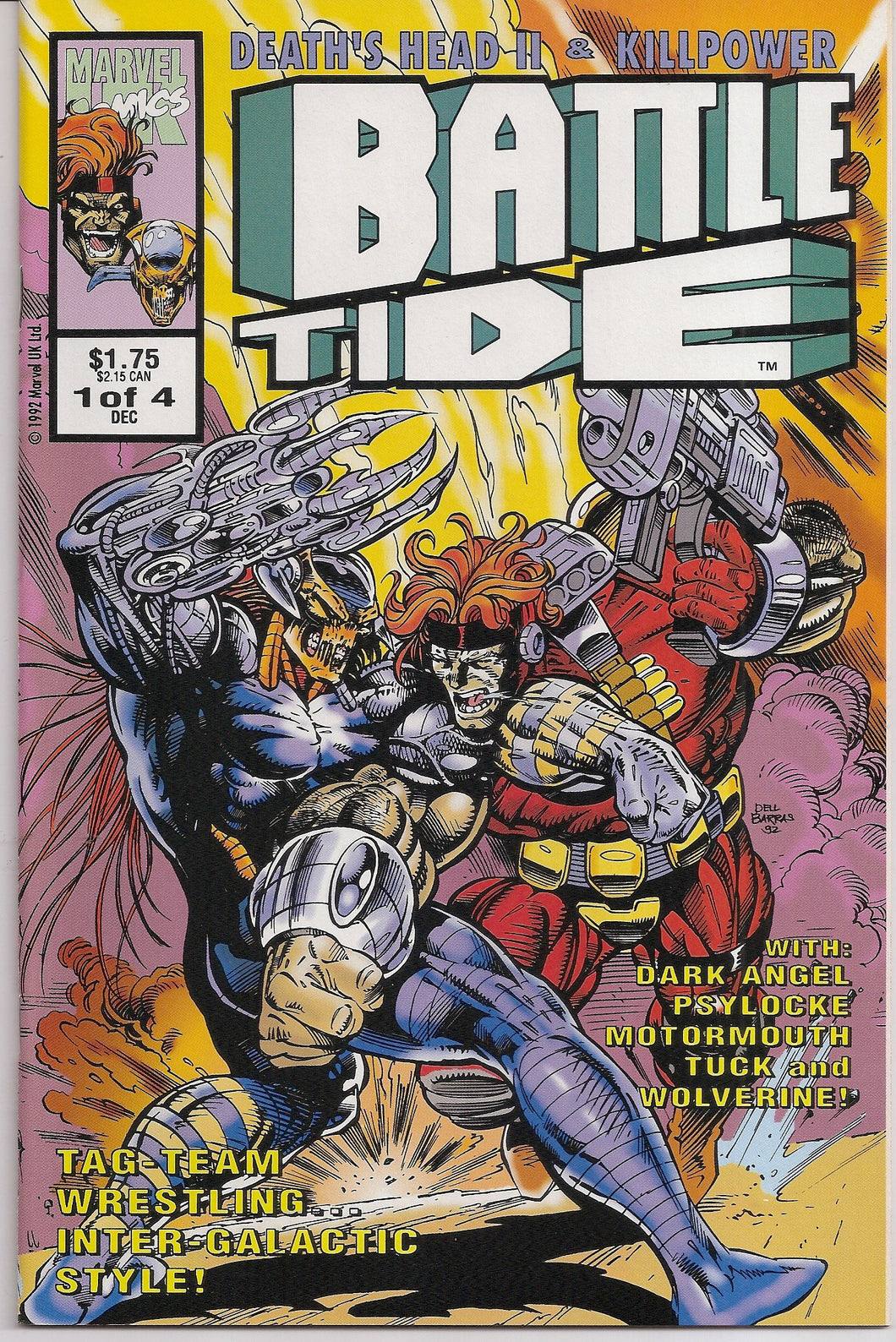 BATTLETIDE #1-4 (1992 Marvel UK) COMPLETE SET Death's Head II Killpower
