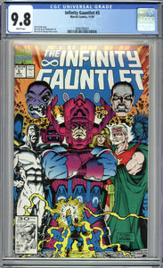 INFINITY GAUNTLET #5 (1991 Marvel) CGC GRADED 9.8 NM/M WHITE PAGES