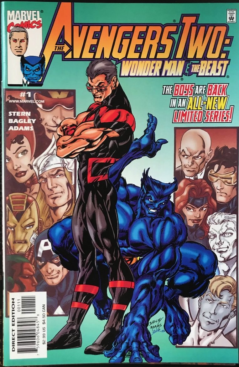 AVENGERS TWO: WONDER MAN AND THE BEAST #1-3 (2000 Marvel) COMPLETE SET