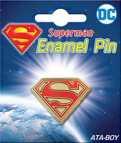SUPERMAN LOGO ENAMEL PIN
