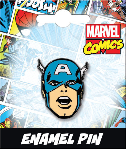 CAPTAIN AMERICA HEAD ENAMEL PIN