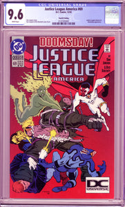 JUSTICE LEAGUE OF AMERICA #69 (1992 DC) CGC 9.6 NM+ RARE 4th Printing DOOMSDAY