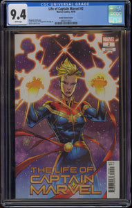 LIFE OF CAPTAIN MARVEL #2 (2018 Marvel Comics) CGC GRADED 9.4 NM WHITE PAGES Adam Kubert 1:50 Variant Cover