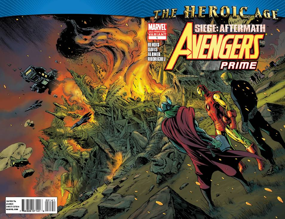 AVENGERS PRIME #1-5 (2010 Marvel) COMPLETE SET Siege Aftermath Heroic Age