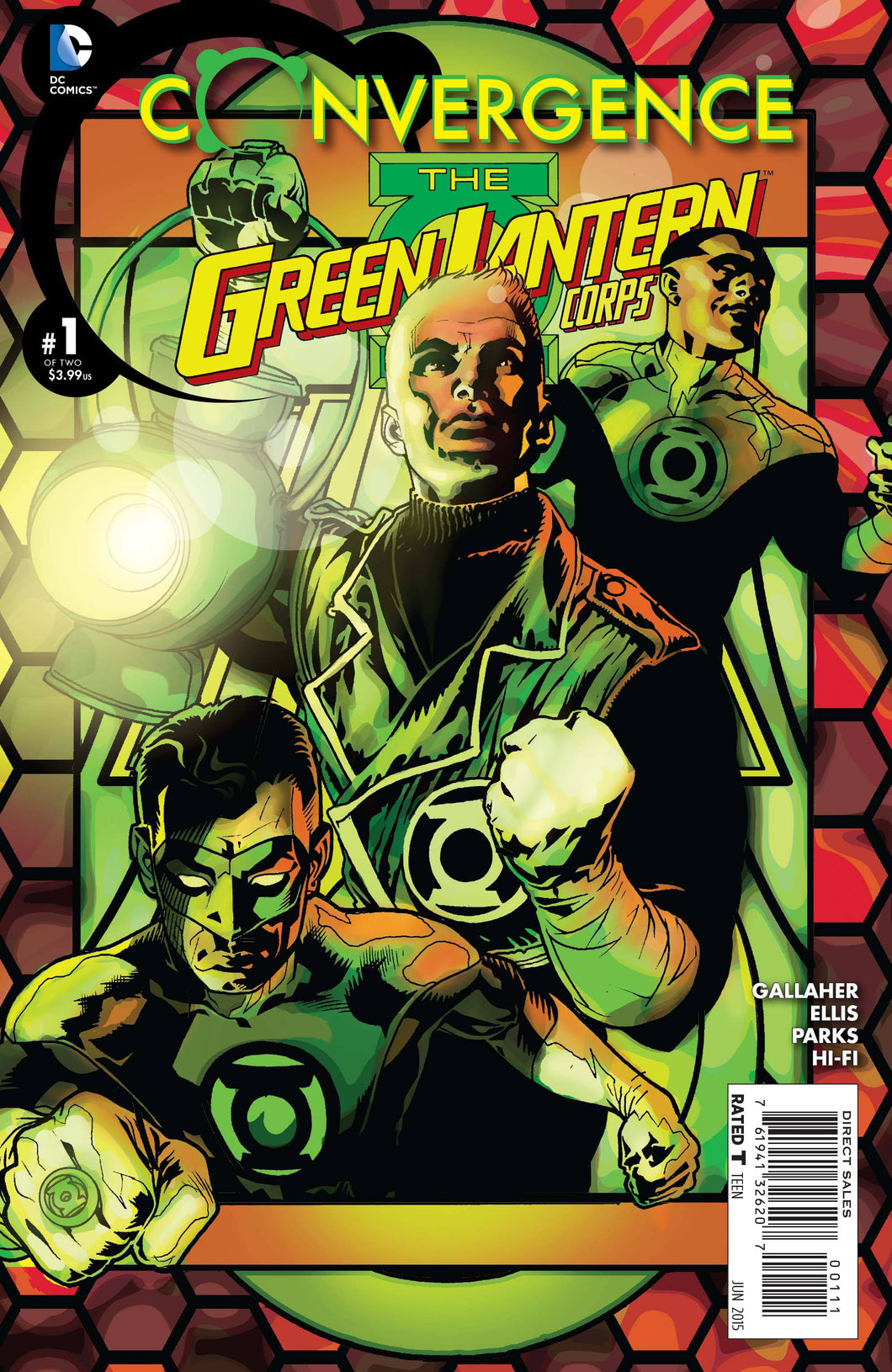 CONVERGENCE: THE GREEN LANTERN CORPS #1-2 (DC 2015) COMPLETE SET