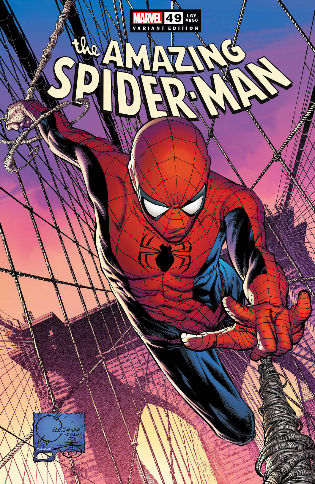 AMAZING SPIDER-MAN #49 850 1:50 QUESADA VARIANT