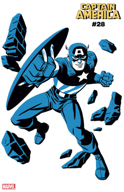 CAPTAIN AMERICA #28 MICHAEL CHO CAPTAIN AMERICA TWO-TO cover