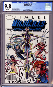 WILDC.A.T.S. #2 NEWSSTAND COVER (1992) CGC GRADED 9.8 NM/M WILDCATS WETWORKS