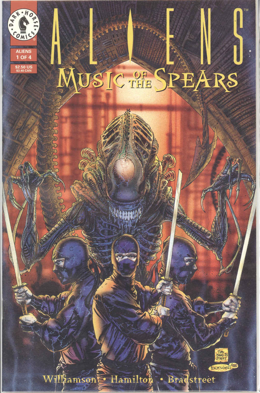 ALIENS: MUSIC OF THE SPEARS (1994 Dark Horse) #1-4 COMPLETE SET