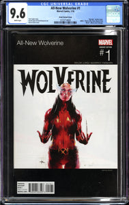 ALL-NEW WOLVERINE #1 (2016 Marvel Comics) CGC GRADED 9.6 NM+ Grant Variant