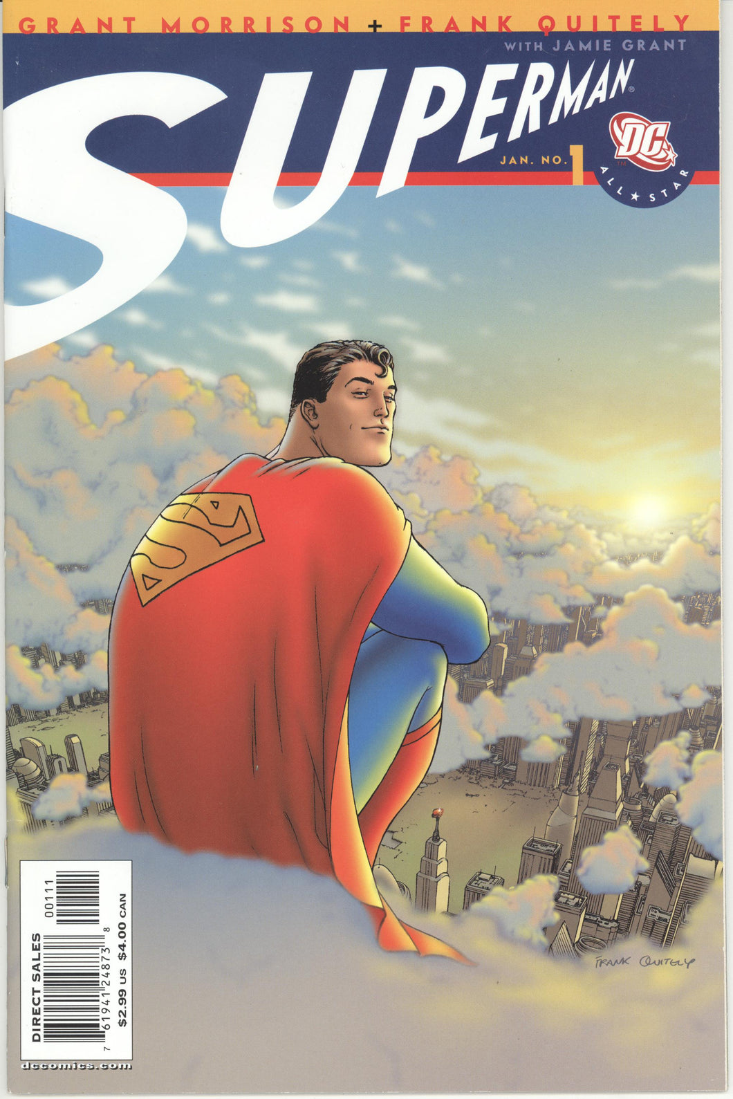ALL-STAR SUPERMAN #1-12 (2005 DC) FULL COMPLETE SET Grant Morrison Frank Quitely