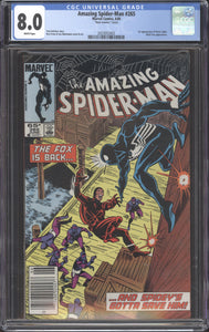 AMAZING SPIDER-MAN #265 (1985 Marvel) CGC 8.0 VF Mark Jewelers Variant RARE