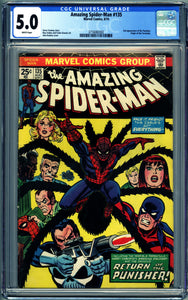 AMAZING SPIDER-MAN #135 (1974) CGC 5.0 VG/F 2nd Punisher Appearance