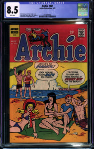 ARCHIE #221 (1972) CGC 8.5 VF+ Betty Veronica Swimsuit- SINGLE HIGHEST GRADED!