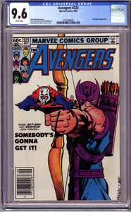AVENGERS #223 CGC GRADED 9.6 NM+ TASKMASTER APPEARANCE (1982 Marvel)
