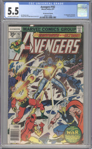 AVENGERS #162 CGC 5.5 RARE 35 CENT COVER PRICE VARIANT 1977
