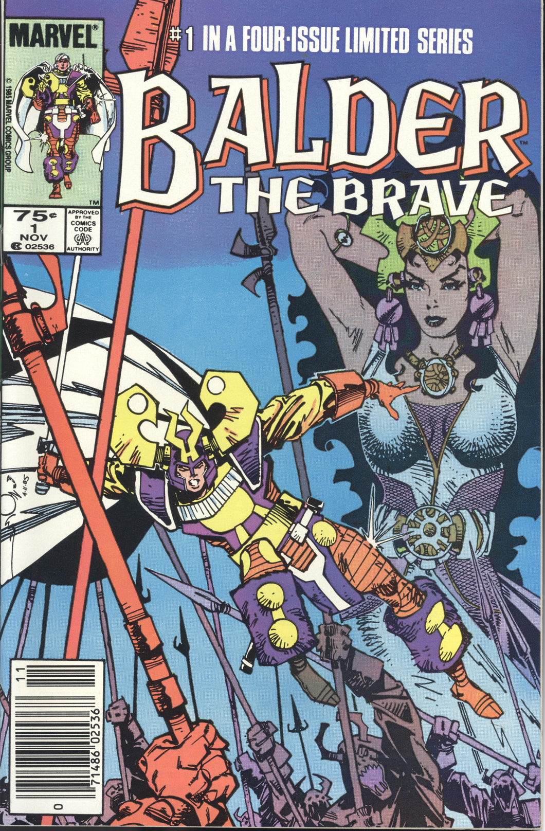 BALDER THE BRAVE (1985 Marvel) #1-4 COMPLETE SETS