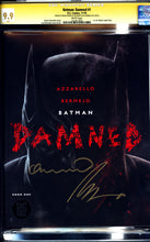 Load image into Gallery viewer, BATMAN: DAMNED #1 (2018 DC Black Label) CGC 9.9 MINT SIGNATURE SERIES