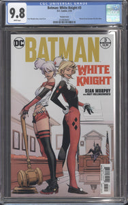 BATMAN: WHITE KNIGHT #3 (2018 DC) CGC 9.8 NM/M HARLEY VARIANT 1st Neo Joker