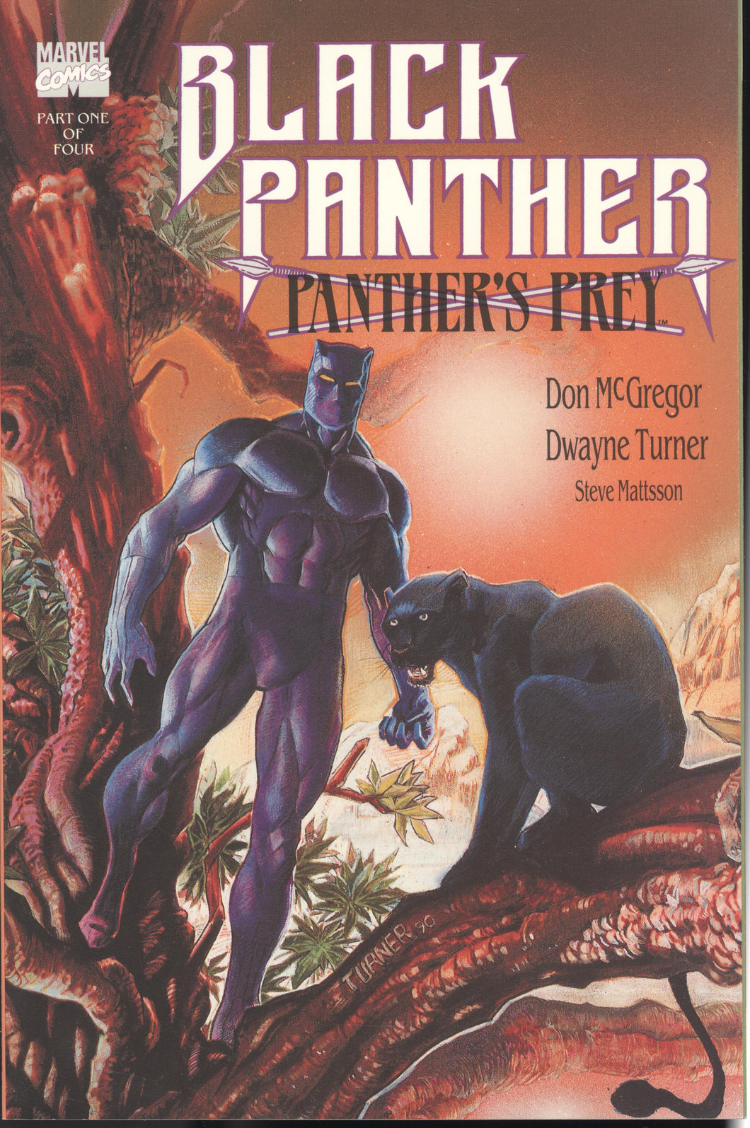 BLACK PANTHER: PANTHERS PREY (1991 Marvel) #1-4 COMPLETE SET