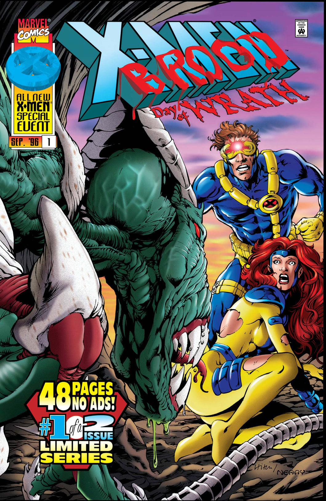 X-MEN VS. BROOD DAY OF WRATH #1-2 (Marvel 1996) COMPLETE SET