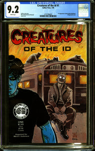 CREATURES OF THE ID #1 (1990 Caliber) CGC 9.2 NM- 1st MADMAN APPEARANCE