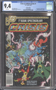 CRISIS ON INFINITE EARTHS #1 (1985 DC) CGC 9.4 NM 1st Blue Beetle CANADIAN PRICE