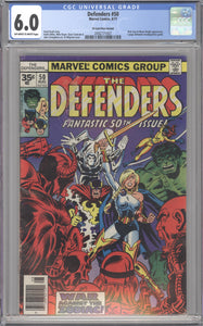 DEFENDERS #50 CGC 6.0 FINE RARE 35 CENT MARVEL COVER PRICE VARIANT 1977