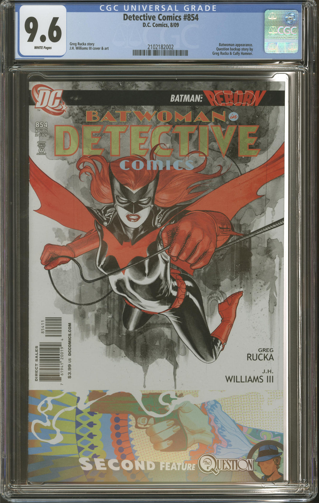 DETECTIVE COMICS #854 (2009 DC Comics) CGC 9.6 NM+ JH Williams III Batwoman