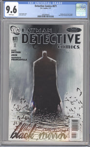 DETECTIVE COMICS #871 CGC 9.6 NM+ SCOTT SNYDER BLACK MIRROR