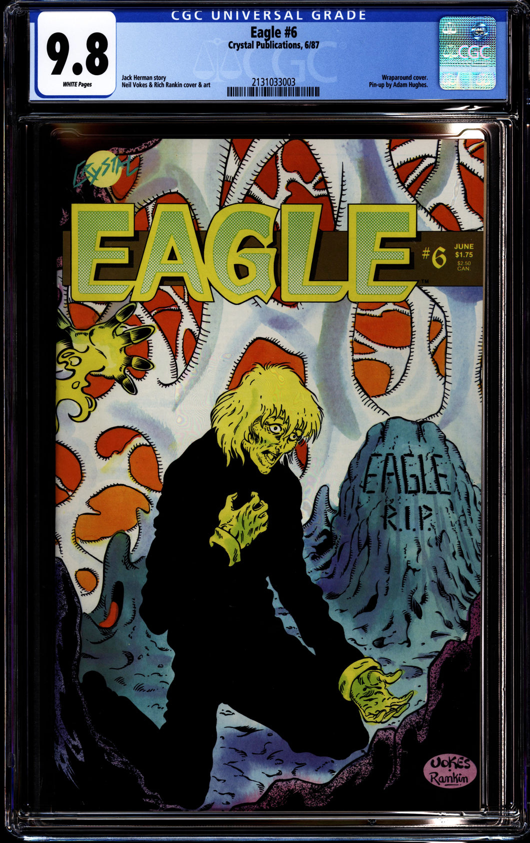 EAGLE #6 (1987 Crystal Publications) CGC HIGHEST GRADED 9.8 NM/M 1st Adam Hughes