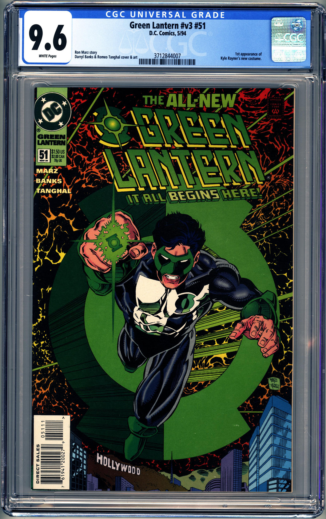 GREEN LANTERN #51 (1994 DC) CGC 9.6 NM+ 1st Kyle Rayner New Costume