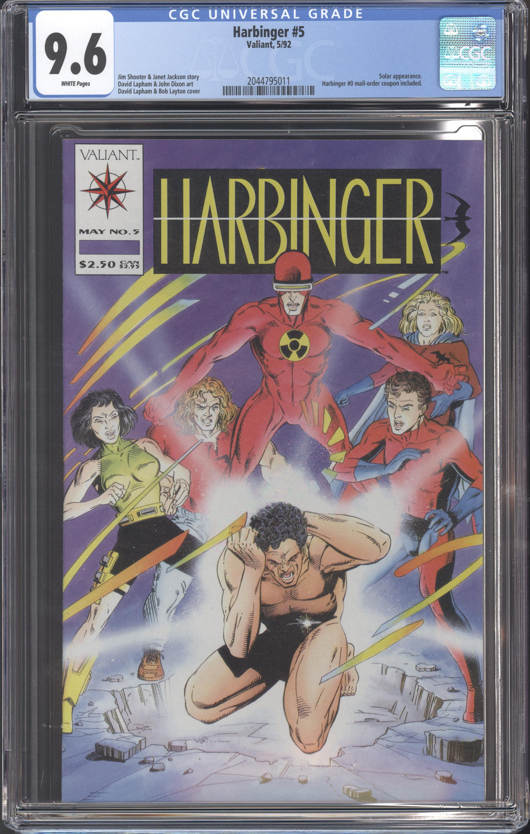 HARBINGER #5 (1992 Valiant) CGC 9.6 NM+ Solar Atom Jim Shooter